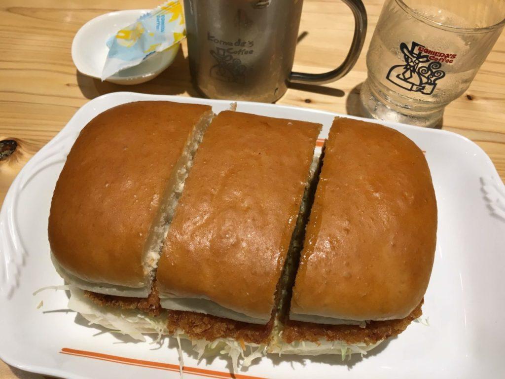 コメダ珈琲カツカリーパン