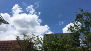 博多駅前の夏の雲