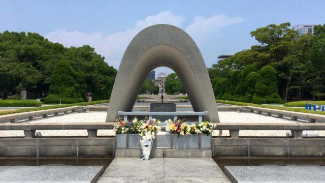 夏の広島平和記念公園